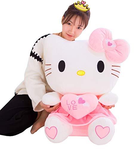 XHH Cute Hello Kitty Plush Toy Home Decor Baby Doll Cuddly Animal Stuffed Toy Valentines Birthday Gift,70cm
