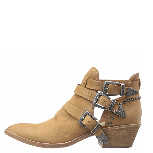 Dolce Vita Spur Women's Chunky Heel Ankle Booties Distressed Nubuck (10, Saddle)