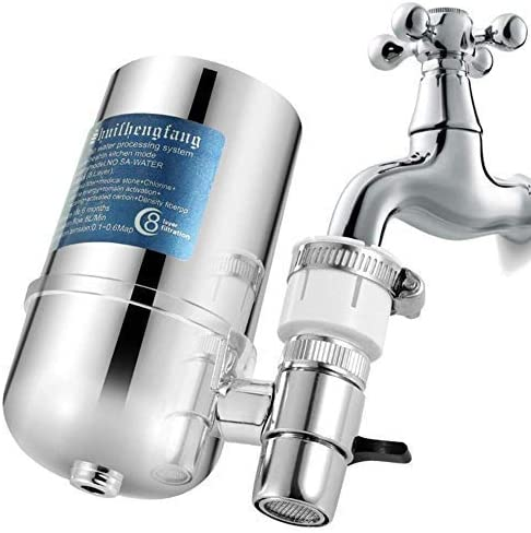 Stratomax Faucet Mount Water Filter - Attached to a faucet