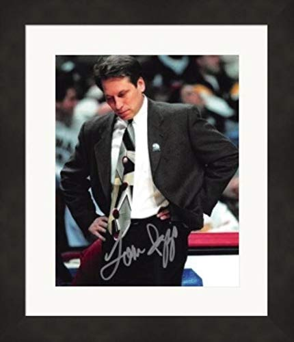 Tom Izzo Signed Photo - 8x10 Coach) #4 Matted & Framed - Autographed College Photos