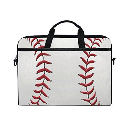 Leather Baseball Briefcase (Laptop Bag Briefcase Shoulder Messenger Tablet Bag Baseball Business Carrying Handbag Working Computer Bag Fit 15-15.4 inch Macbook)