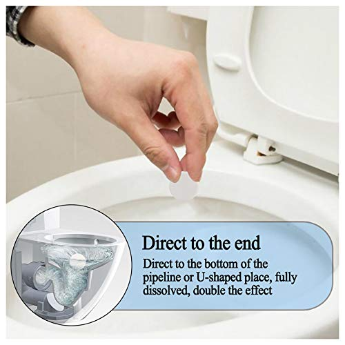 10 PC Fast Foaming Cleaner Toilet Drain Cleaner for Shower Drain Toilet Washing Machine Sink Drain Chemical Pipeline Dredge Agent Toile Quick Cleaning (White)
