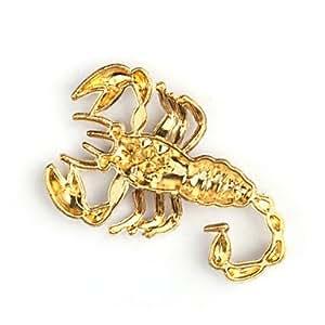 Coche insignia emblema cromado adhesivo - escorpi¨®n de oro