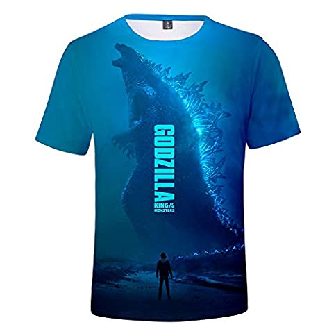 - 41RVg9duNPL - Godzilla Shirt King of The Monsters T Shirt 3D Printed Graphic Tee for Men Women