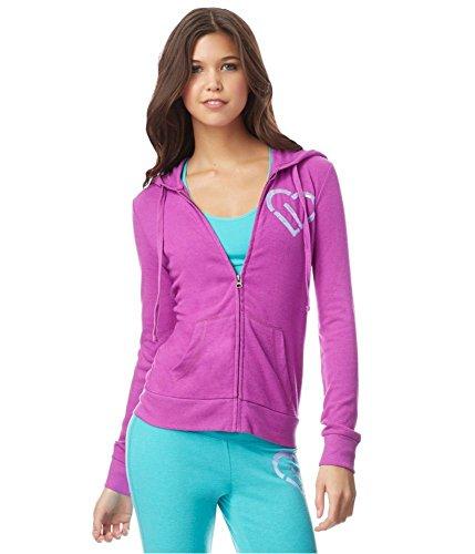Aeropostale Womens Sequin Hoodie Sweatshirt