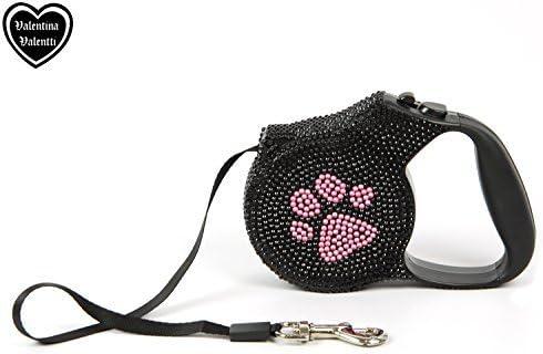 5 m einziehbar Pink mit Strasssteinen Valentina Valentti Hundeleine