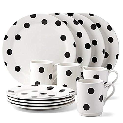 Dots Dinnerware Set - kate spade new york All in Good Taste Deco Dot Dinnerware Set - White - 12 pc