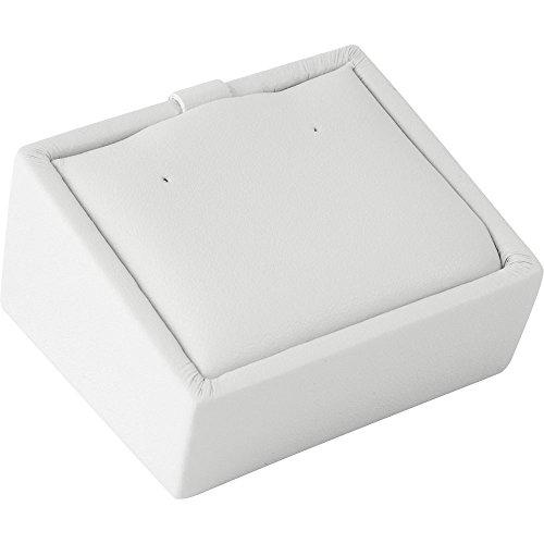 "Gunther Mele DA28A01PESC Pierced Earring Tray, 2-3/8"" x 2-1/4"" x 1-1/2"" Size, Chalk White (Pack of 4)"