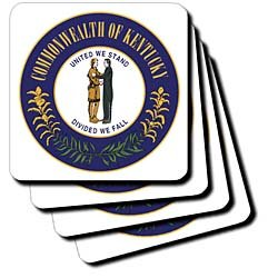 Sandy Mertens Kentucky - Great Seal of Kentucky (PD-US) - Coasters