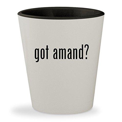 got amand? - White Outer & Black Inner Ceramic 1.5oz Shot Gl