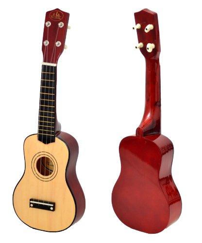 Kinder Gitarre Spielzeuggitarre 52 cm Holz Natur Braun ab 3 Jahre geeignet