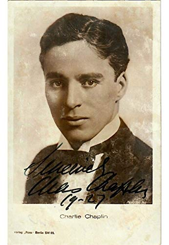- Beautiful Charlie Chaplin Signed Autographed 1927 Photo With JSA COA