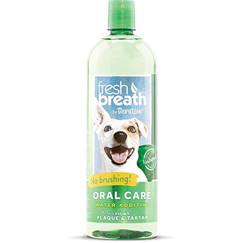 Tropiclean Fresh Breath Plaque Remover Pet Water Additive 33.8oz from TropiClean