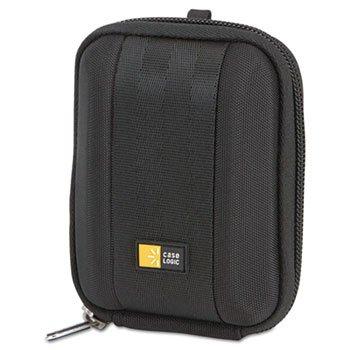 Compact Camera Case with EVA Shell, Polyester/EVA, 3-1/2 x 1-2/5 x 4-1/2, Black