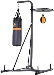 "HOMCOM Punching Bag Holder and Speed Ball Exercise Punching Bag Stand with Punching Ball 45.25"" L x 64.25"