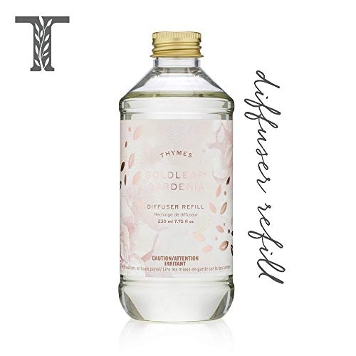 Thymes - Goldleaf Gardenia Aromatic Diffuser Oil Refill - Large Bottle with Floral Magnolia Scent - 7.75 oz
