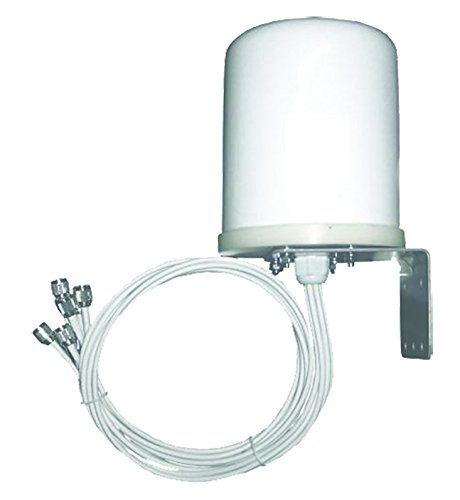TerraWave 6 dBi MIMO Outdoor Omnidirectional Antenna, RPTNC Plug Connectors, 6 Ports (316571)