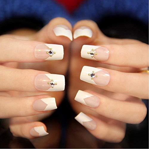 SALOCY uñas postizas, 500 piezas/10 tamaños ovalados de uñas acrílicas artificiales Fake Art uñas puntas con caja: Amazon.es: Belleza