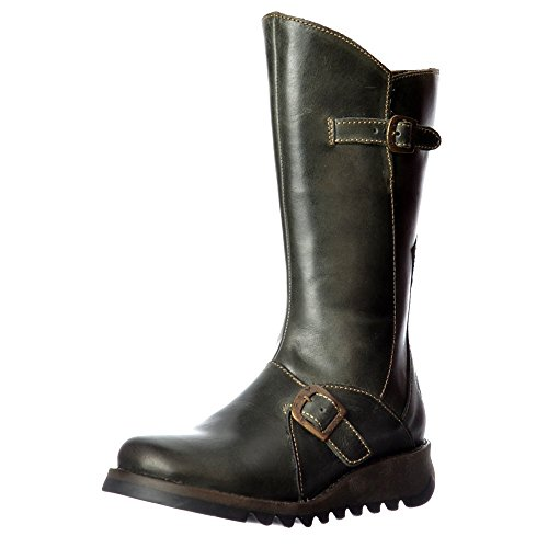 Wedge Winter Black 2 Calf Boot Heel Camel Low London Women's Purple Mes High Petrol Diesel Diesel Cleated Fly Sole xq4zaw