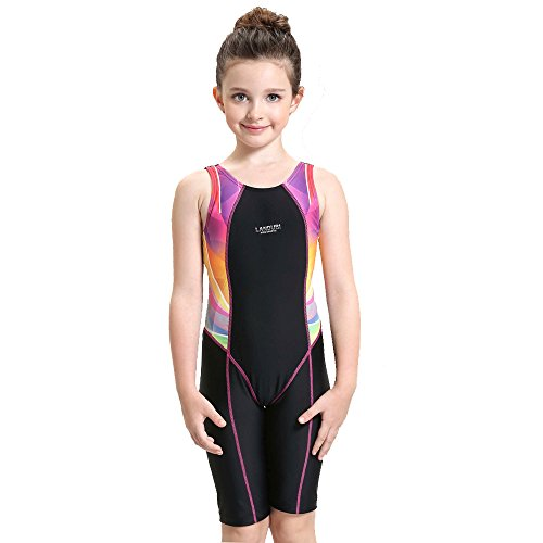 c150b3c2a77bf Girls Professional Competitive Racerback Swimsuit One-Piece Athletic  Bathing Suit