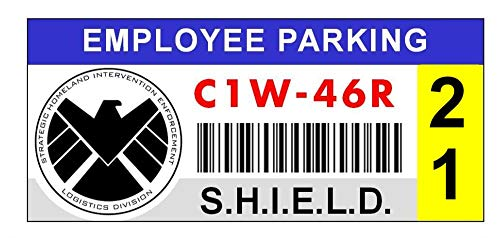 Starbase 79 S.H.I.E.L.D. Window Cling Parking Decal