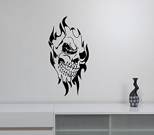 Demonic Evil Clown Skull Wall Decal Circus Scary Jester Vinyl Sticker Halloween Sinister Art Decorations for Home Room Bedroom Decor scw2]()