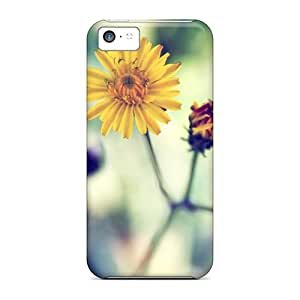 Flexible Tpu Back Case Cover For Iphone 5c - Yellow Spring Daisy