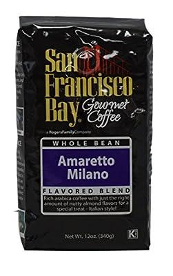 San Francisco Bay Coffee Whole Bean, Amaretto Milano, 12 Ounce