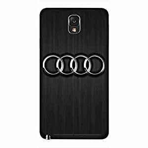 Cool Audi Logo Funda,Audi Logo Samsung Galaxy Note 3 Funda,Audi Funda Black Hard Plastic Funda For Samsung Galaxy Note 3