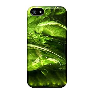 Special MeSusges Skin Case Cover For Iphone 5/5s, Popular Green Drops Phone Case