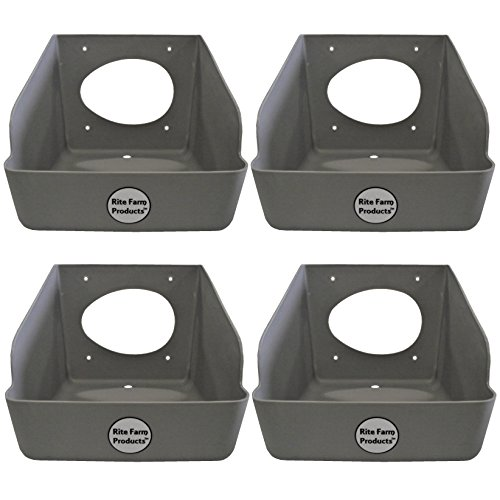 4 PACK RITE FARM PRODUCTS WASHABLE POLY EGG NESTING BOX CHICKEN LAYING COOP NEST Chicken Nesting Boxes