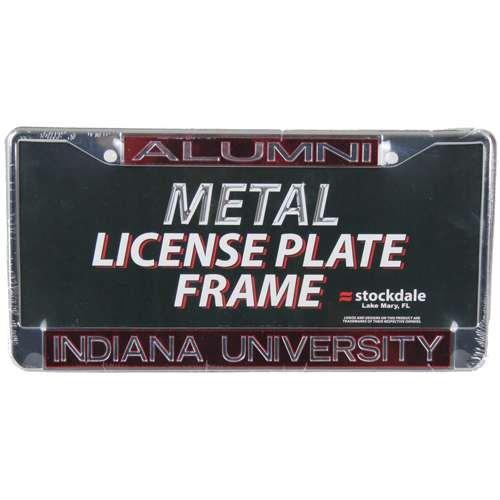 Hoosiers Indiana Metal (Indiana Hoosiers Metal Alumni Inlaid Acrylic License Plate Frame)