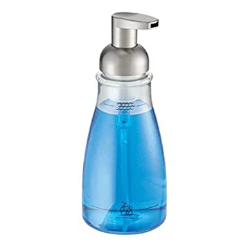 InterDesign   Foaming Soap Dispenser For Bathroom Or Kitchen   Clear/Brushed  Nickel   3
