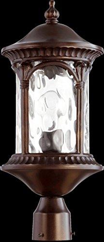 Quorum Lighting 7903-1-86, Riviera Outdoor Post Lighting, 75 Watts, Oiled Bronze Oiled Bronze