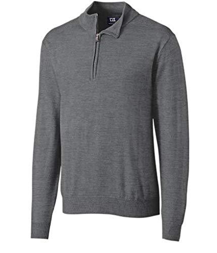 Cutter & Buck Men's Douglas Half Zip Sweatshirt Mid Grey Heather XX-Large