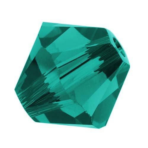 (Swarovski Crystal, #5328 Bicone Beads 4mm, 24 Pieces, Blue Zircon)