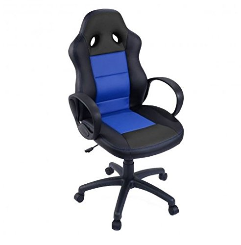 41RVlwM7oQL - MD-Group-Gaming-Chair-High-Back-Race-Car-Style-Blue-Elegant-Comfortable-Pneumatic-Height-Adjustable