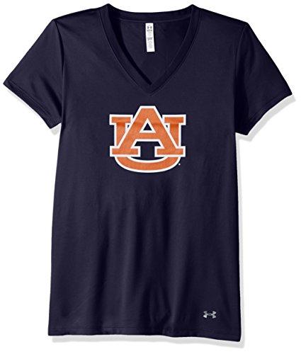 Under Armour NCAA Auburn Tigers Women's Tech V-Neck Tee, Small, ()
