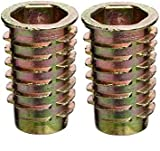 E-Z Lok Threaded Insert, Zinc, Hex-Flanged, 5/16''-18 Internal Threads, 25mm Length (Pack of 25) ((2.Units))