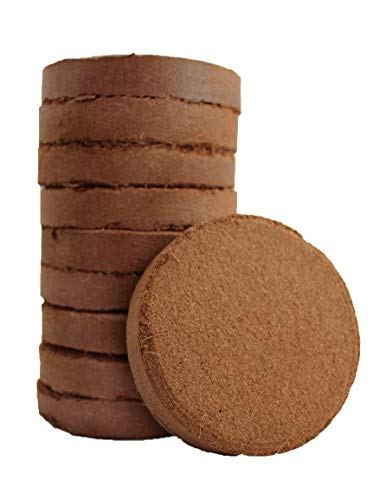 Plantonix Coco Bliss Fiber Soil Disks (50, 100mm) Organic Potting Soil for Planting Indoor Container House Plants, Seed Starting, Herbs, Succulents, Wheatgrass, Microgreens, Gardening, Flowers