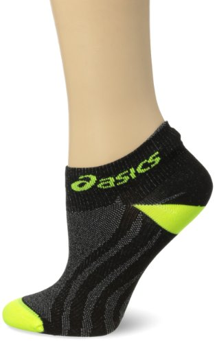 ASICS Hera Lyte Single Tab Socks, Neon/Black, Large