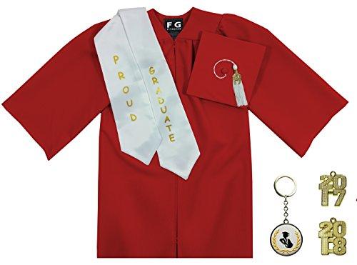 [해외]FIT4GRAD 무광택 유치원 모자 가운 술 상자 인형 스톨 키 체인 졸업 세트/FIT4GRAD Matte Kindergarten Cap Gown Tassel Bling Signet Stole Keychain Graduation Set