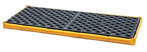 UltraTech 1351 Polyethylene P2 Flexible 2-Drum Ultra-Spill Deck, 3000 lbs Capacity, 24'' Length x 48'' Width x 2-1/2'' Height, Yellow