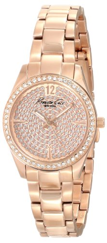 Kenneth Cole New York Men's KC0005 Classic Round Rose Gold Stone Dial Bezel Bracelet Watch