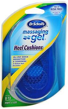Dr. Scholl's Massaging Gel Heel Cushions Men's Sizes 8-13 - 1 PR, Pack of 2