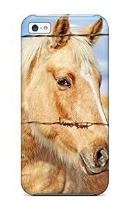 AmandaMichaelFazio Scratch-free Phone Case For Iphone 5c- Retail Packaging - Best Horse
