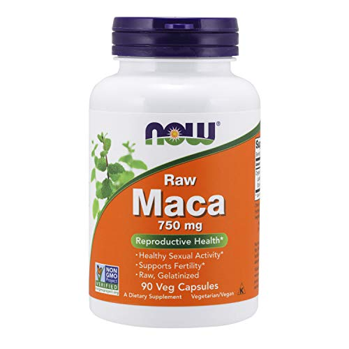 NOW Supplements, Maca (Lepidium meyenii) 750 mg Raw, Reproductive Health*, 90 Veg Capsules