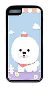 The Beautiful White Dog Lovely Mobile Phone Protection Shell For iPhone 5c Cases - Unique Cool Black Soft Edge Case