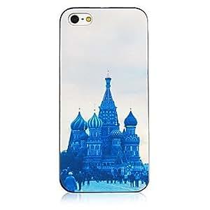 LIMME- Castle Pattern Black Frame Back Case for iPhone 4/4S