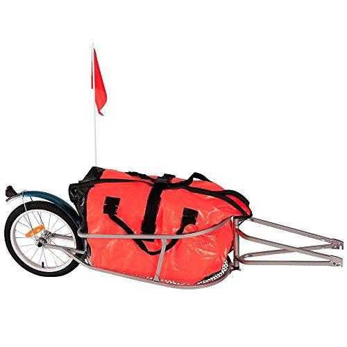 Yahee 150 x 44 x 44 cm Fahrradanhänger Lastenanhänger Transportanhänger Fahrrad Anhänger 90L Tasche bis 30kg